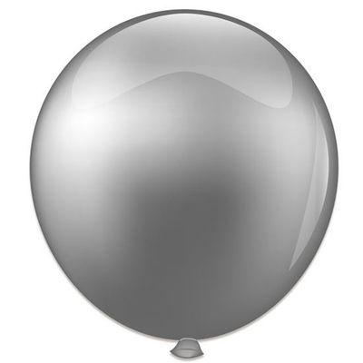 Foto van Topballon metallic zilver (91cm)