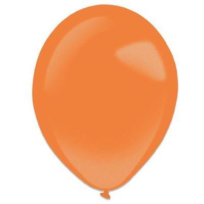 Foto van Ballonnen tangerine metallic (28cm) 50st