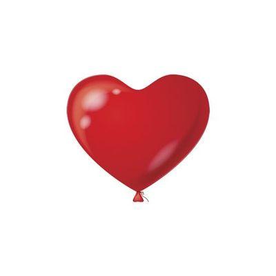 Foto van Hart Ballon rood 12,5CM (100 stuks)