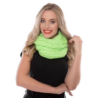 Gebreide sjaal fluor groen