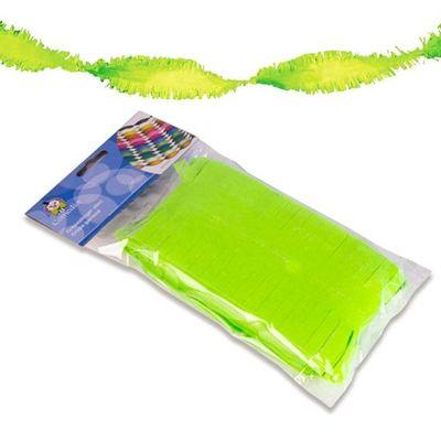 Crepe slinger neon groen 6m