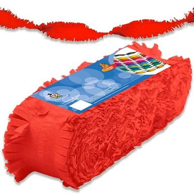 Crepe papier slinger rood 24m