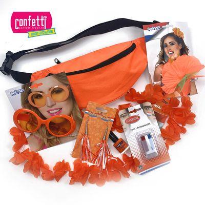 Ek voetbal oranje pakket vrouw