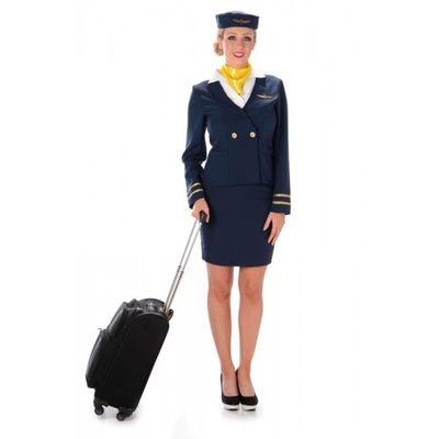 Stewardess kostuum - Donkerblauw