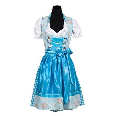 Dirndl jurk blauw - Nina