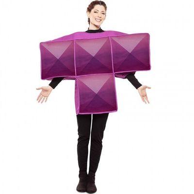 Tetris kostuum paars