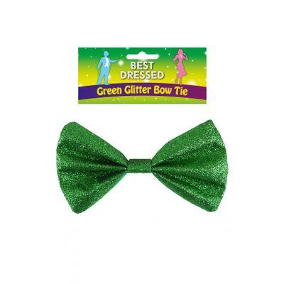 Foto van Groene glittervlinderstrik