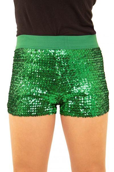 Glitter broekje showgirl groen