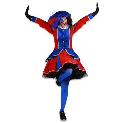 Dames pietenjurk Madrid rood/blauw
