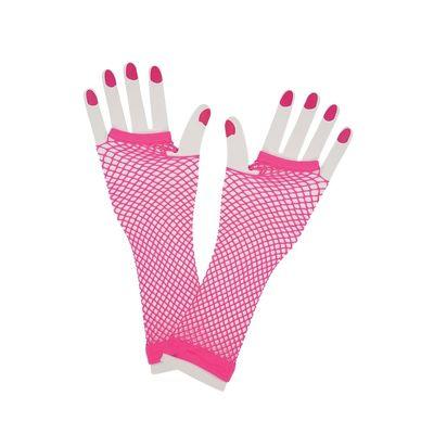 Foto van Net handschoenen neon roze