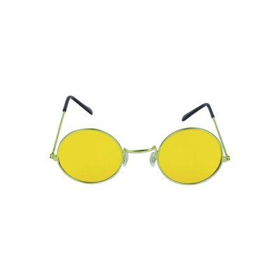 Foto van Hippie bril geel