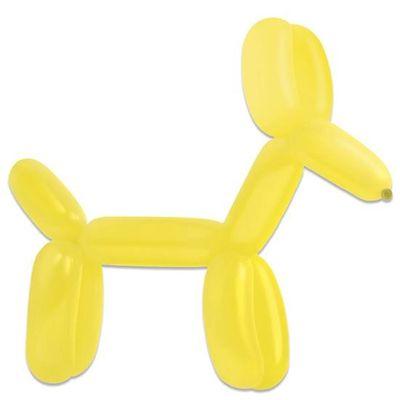 Modelleerballonnen yellow sun (115cm)