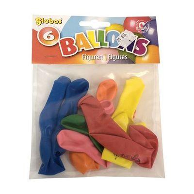 Figuurballonnen assorti 6st