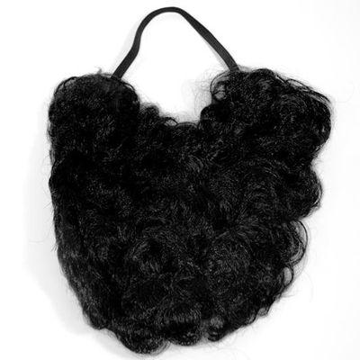Baard 20cm zwart
