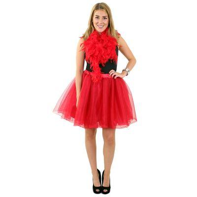 Foto van Tule rok rood dames one size