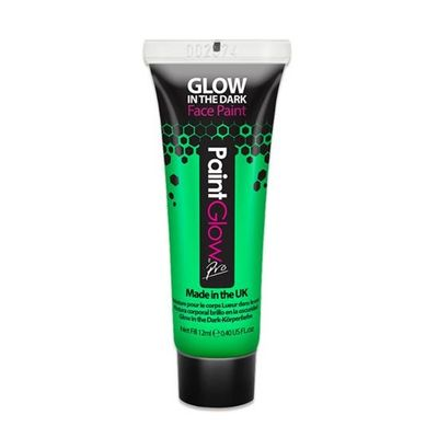 Foto van Glow in the dark - Body paint neon groen