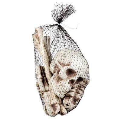 Foto van Doodshoofd en beenderen in zak