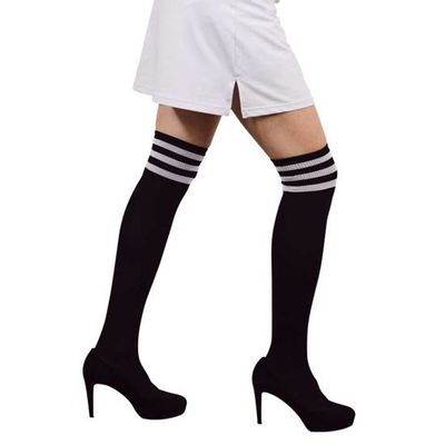 Cheerleader sokken zwart wit