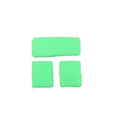 Foto van Neon zweetband hoofd en pols groen