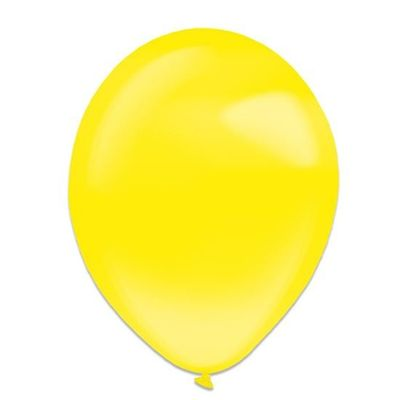Ballonnen yellow sun crystal (13cm) 100st