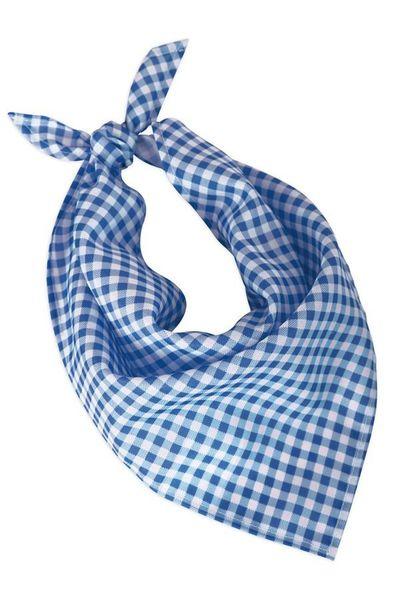 Oktoberfest halsdoek blauw/wit