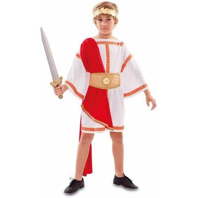 Foto van Romeinse keizer kostuum kind