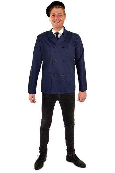Blauwe jas heren