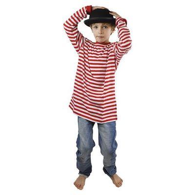 Gestreepte trui rood/wit - kind