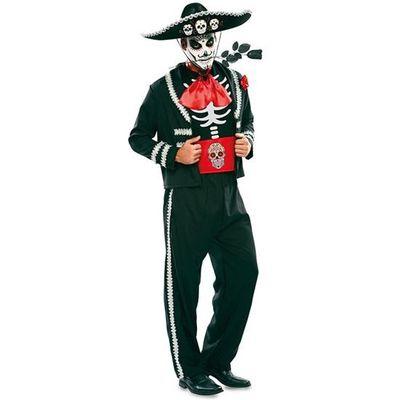 Day of the Dead kostuum - zwart
