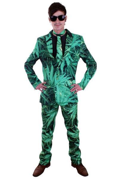 Kostuum met wiet print xl