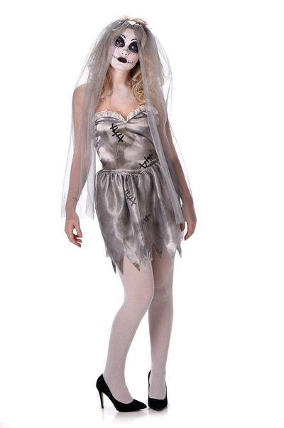 Horror bruid kostuum