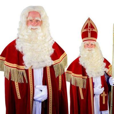 Foto van Sinterklaas baard TV-Sint buffel(Yak)deluxe lang 34.104