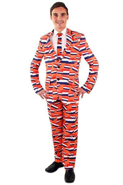 NL oranje kostuum 3-delig heren