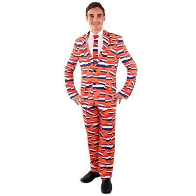 Foto van NL oranje kostuum 3-delig heren