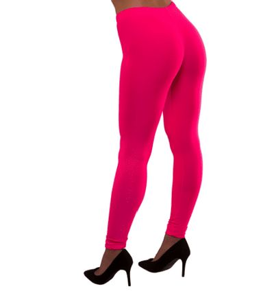 Neon legging roze