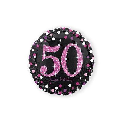 Foto van Folie ballon 50 jaar roze