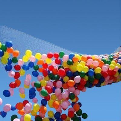 Ballon drop net voor 2000 ballonnen
