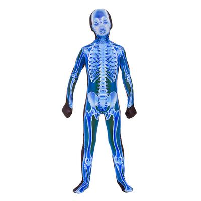 Foto van X-ray skeletten jumpsuit blauw