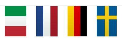 Vlaggenlijn Europa Vierkant /10mtr