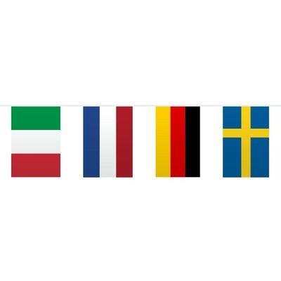Foto van Vlaggenlijn Europa Vierkant /10mtr
