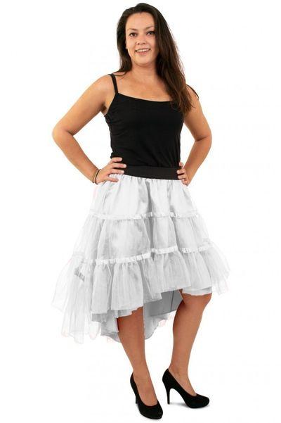 Petticoat schuin aflopend wit