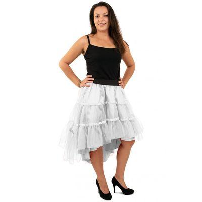 Foto van Petticoat schuin aflopend wit