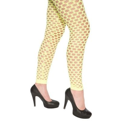 Foto van Neon legging met gaten geel