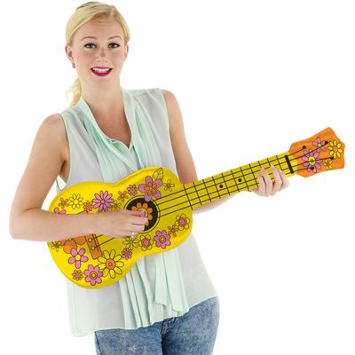 Foto van Opblaas gitaar hippie