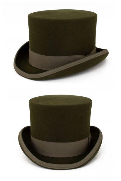 Hoge hoed wol Groen