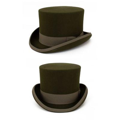Foto van Hoge hoed wol Groen