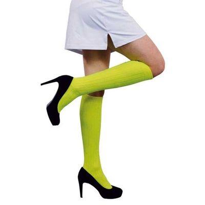 Foto van Voetbalsokken fluor geel