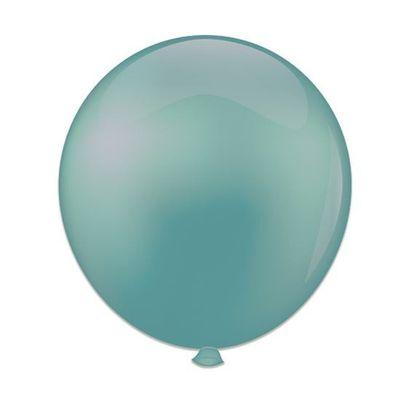 Topballon vintage blauw (91cm) 6st