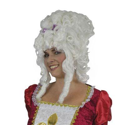 Foto van Marie Antoinette pruik wit