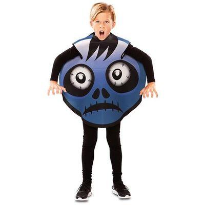 Emoticon kostuum zombie blauw - kind